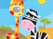 jirafa y cebra