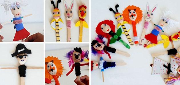 Marionetas con cucharas de madera