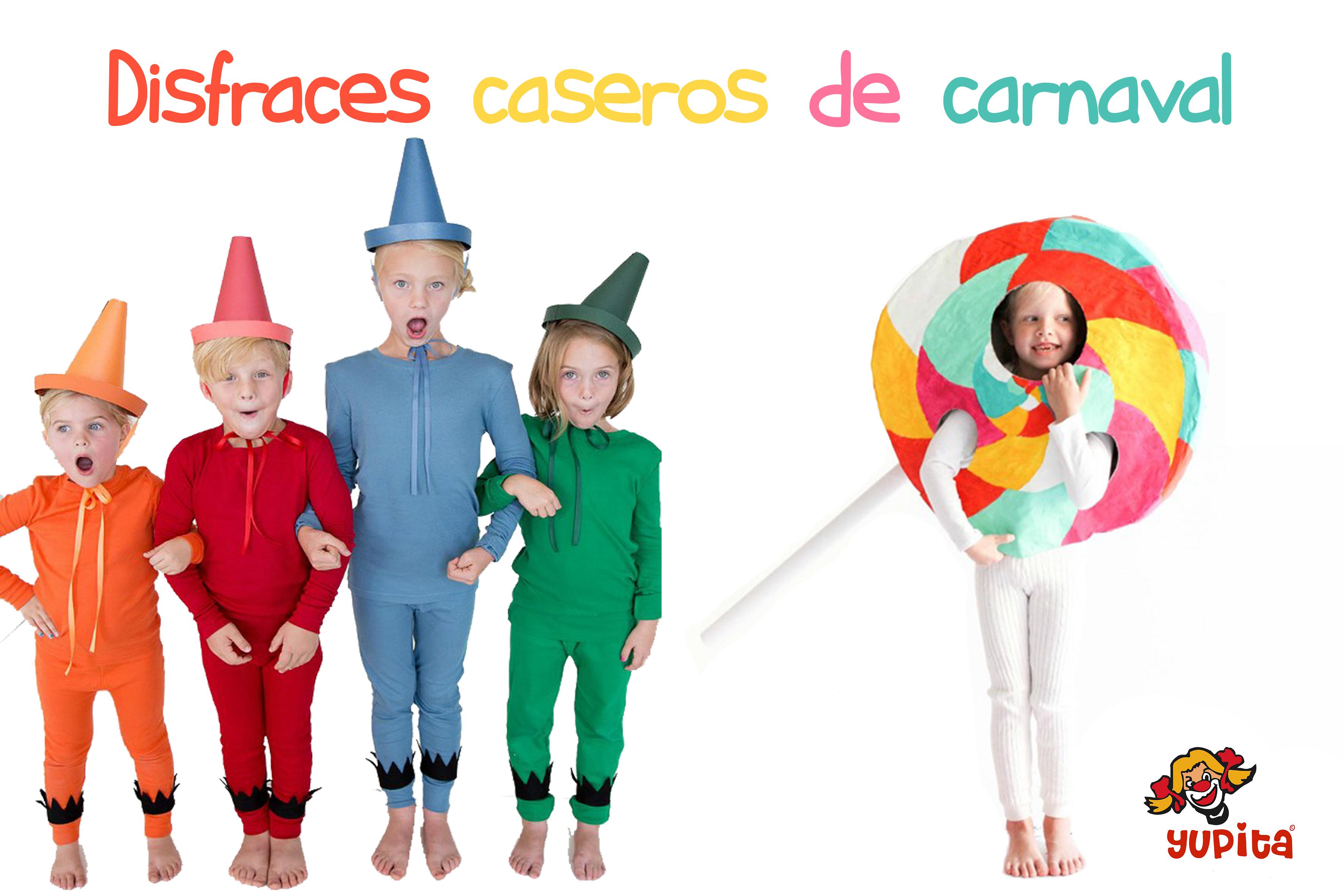 Disfraces caseros para carnavales