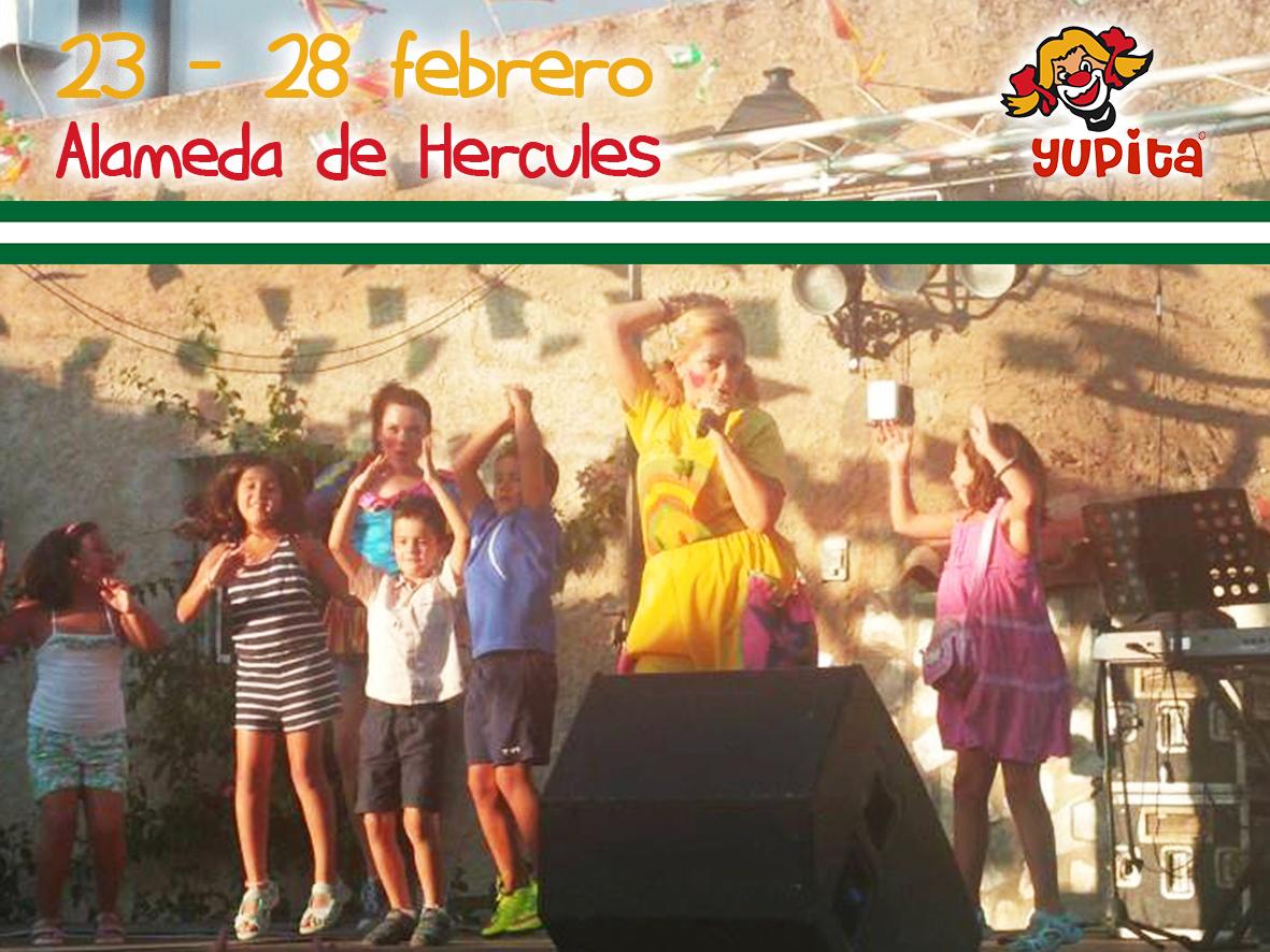 Día de Andalucía con Yupita en la Alameda
