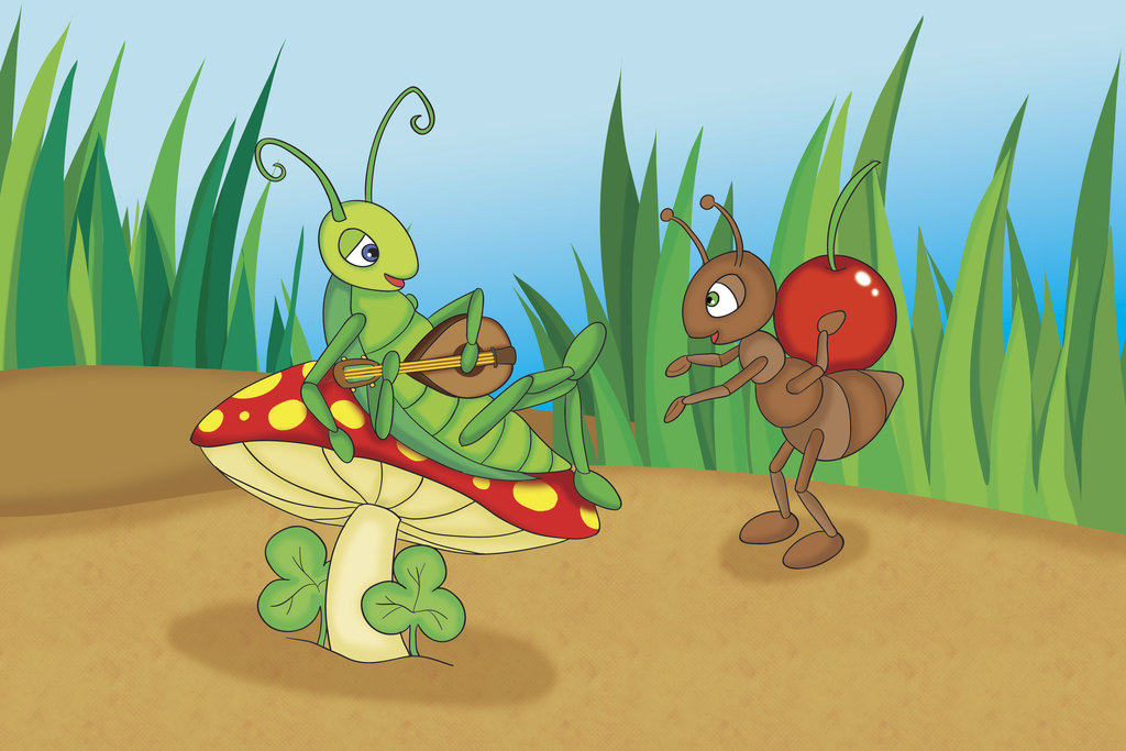 El cuento de la cigarra y la hormiga